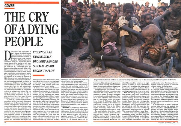 Article Preview: THE CRY OF A DYING PEOPLE, September 1992 | Maclean's