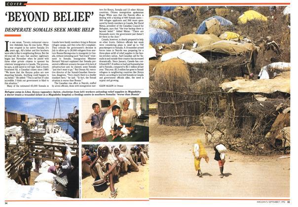 Article Preview: `BEYOND BELIEF', September 1992 | Maclean's