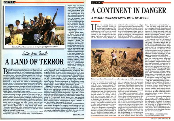 Article Preview: A CONTINENT IN DANGER, September 1992 | Maclean's