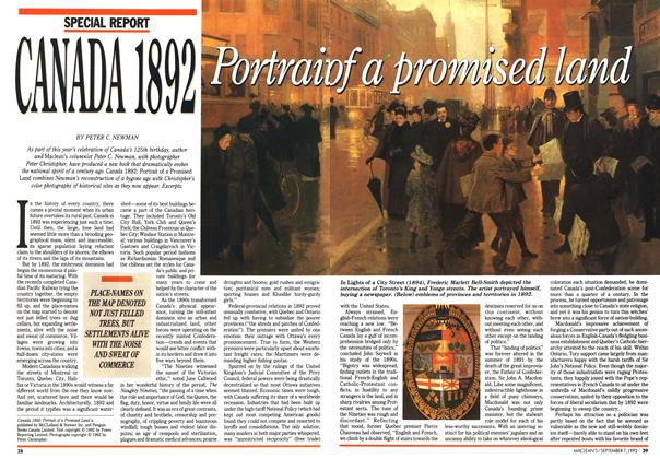 Article Preview: CANADA 1892, September 1992 | Maclean's