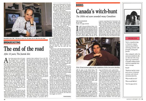 Article Preview: The end of the road, September 1992 | Maclean's