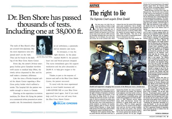 Article Preview: The right to lie, September 1992 | Maclean's