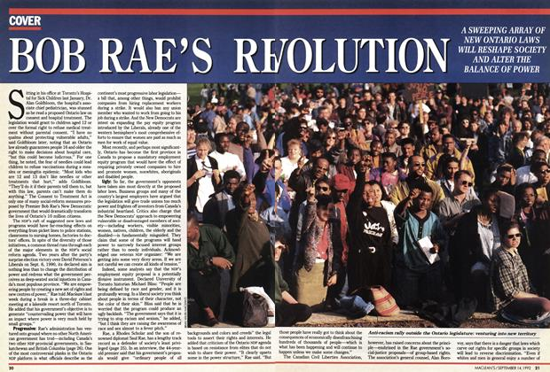 Article Preview: BOB RAE'S REVOLUTION, September 1992 | Maclean's