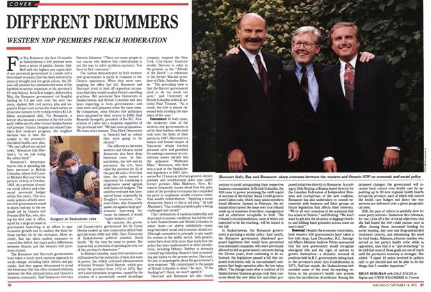 Article Preview: DIFFERENT DRUMMERS, September 1992 | Maclean's