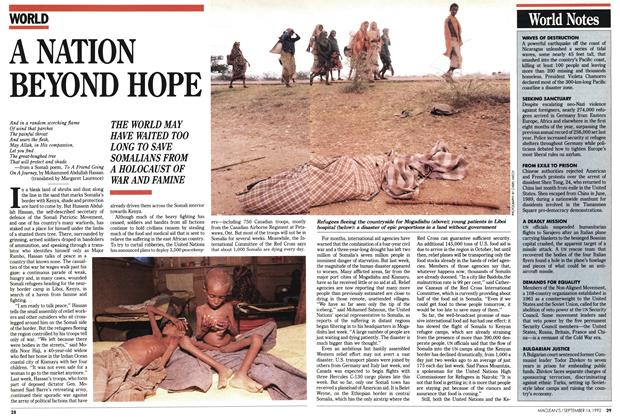 Article Preview: A NATION BEYOND HOPE, September 1992 | Maclean's