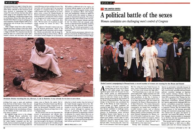 Article Preview: A political battle of the sexes, September 1992 | Maclean's