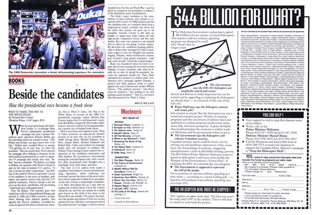 Article Preview: Beside the candidates, September 1992 | Maclean's