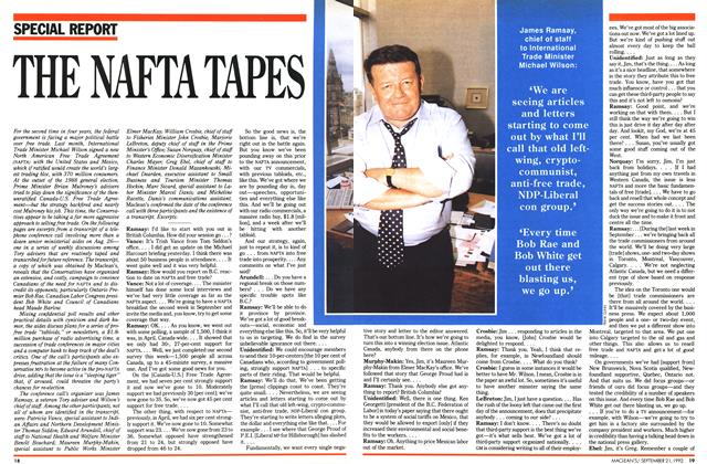 Article Preview: THE NAFTA TAPES, September 1992 | Maclean's