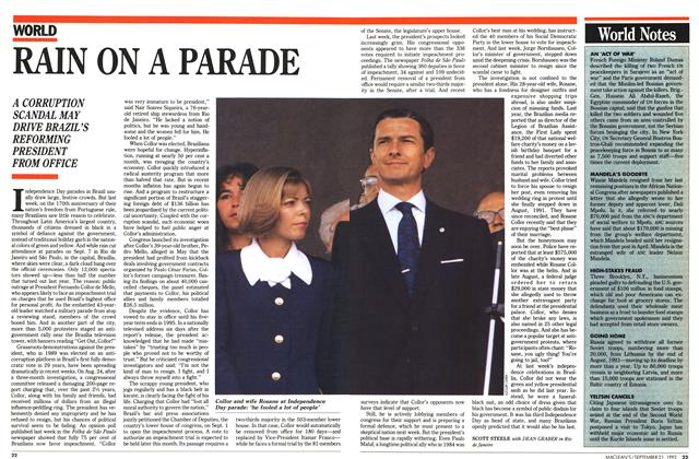 Article Preview: RAIN ON A PARADE, September 1992 | Maclean's