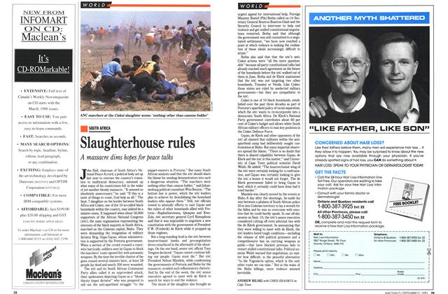 Article Preview: Slaughterhouse rules, September 1992 | Maclean's