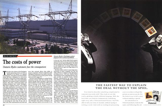 Article Preview: The costs of power, September 1992 | Maclean's