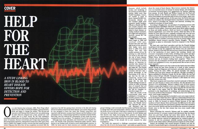 Article Preview: HELP FOR THE HEART, September 1992 | Maclean's
