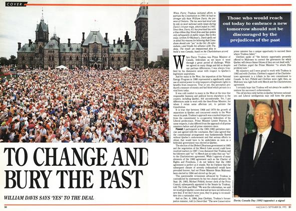 Article Preview: TO CHANGE AND BURY THE PAST, September 1992 | Maclean's