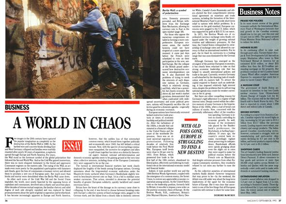 Article Preview: A WORLD IN CHAOS, September 1992 | Maclean's