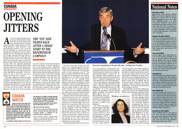 Article Preview: OPENING JITTERS, September 1992 | Maclean's