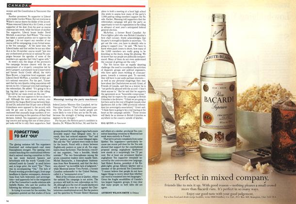 Article Preview: FORGETTING TO SAY 'OUI', October 1992 | Maclean's
