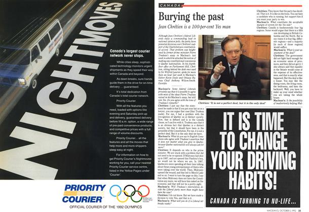 Article Preview: Burying the past, October 1992 | Maclean's