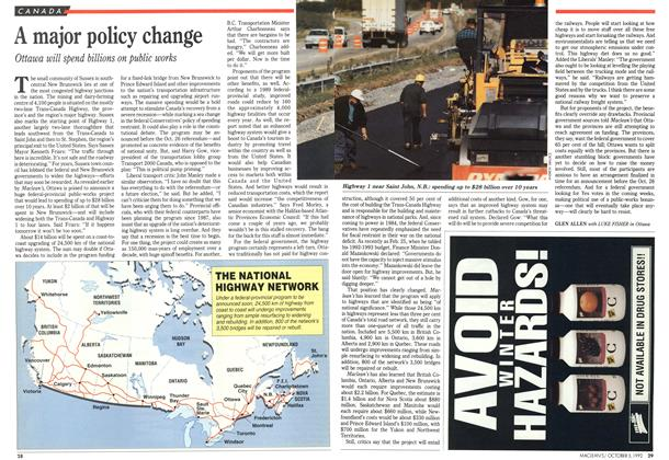 Article Preview: A major policy change, October 1992 | Maclean's