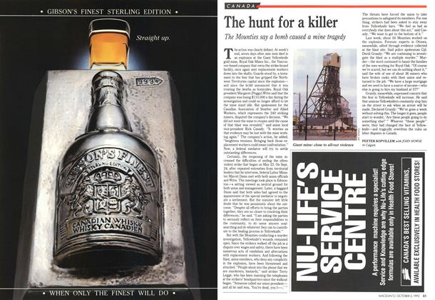 Article Preview: The hunt for a killer, October 1992 | Maclean's