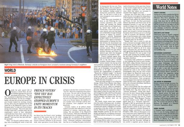 Article Preview: EUROPE IN CRISIS, October 1992 | Maclean's