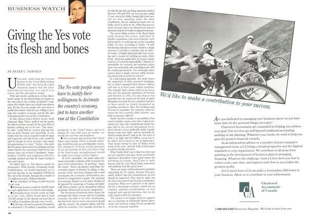 Article Preview: Giving the Yes vote its flesh and bones, October 1992 | Maclean's