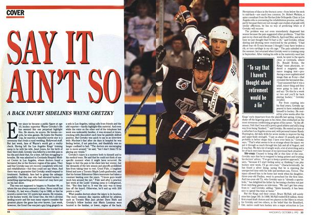 Article Preview: SAY IT AIN'T SO, October 1992 | Maclean's