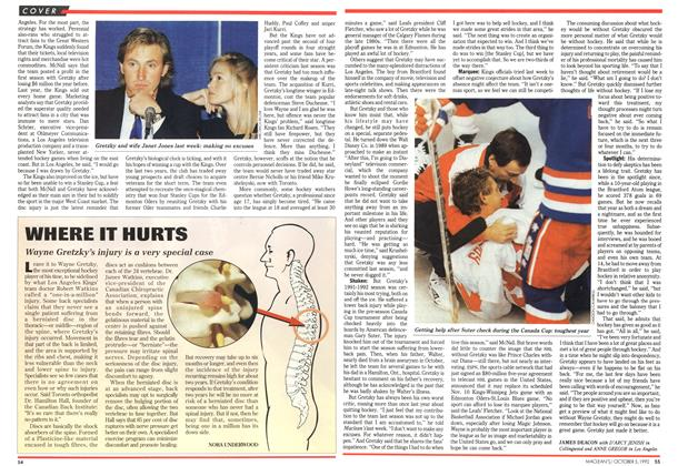 Article Preview: WHERE IT HURTS, October 1992 | Maclean's