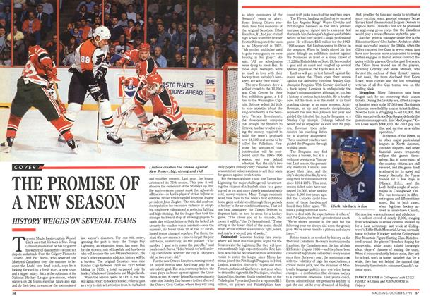 Article Preview: THE PROMISE OF A NEW SEASON, October 1992 | Maclean's