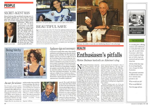 Article Preview: Enthusiasm's pitfalls, October 1992 | Maclean's