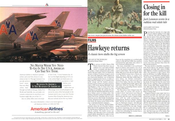 Article Preview: Hawkeye returns, October 1992 | Maclean's