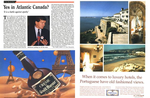Article Preview: Yes in Atlantic Canada?, October 1992 | Maclean's
