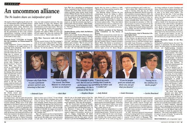 Article Preview: An uncommon alliance, October 1992 | Maclean's