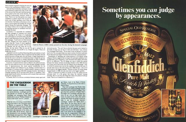 Article Preview: THE CHEQUEBOOK ON THE TABLE, October 1992 | Maclean's