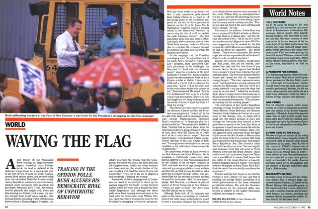 Article Preview: WAVING THE FLAG, October 1992 | Maclean's