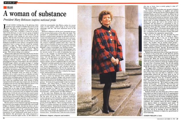 Article Preview: A woman of substance, October 1992 | Maclean's