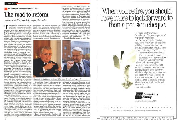 Article Preview: The road to reform, October 1992 | Maclean's