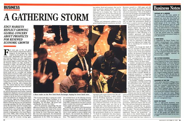 Article Preview: A GATHERING STORM, October 1992 | Maclean's