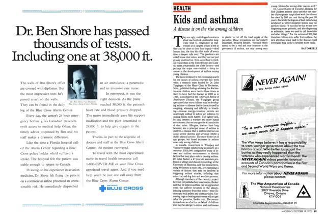 Article Preview: Kids and asthma, October 1992 | Maclean's