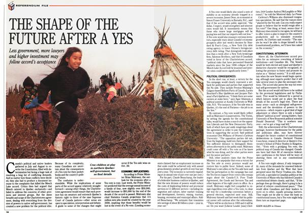 Article Preview: THE SHAPE OF THE FUTURE AFTER A YES, October 1992 | Maclean's