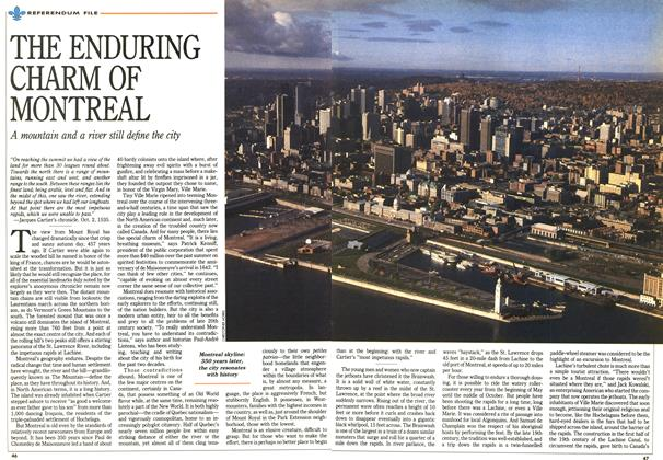 Article Preview: THE ENDURING CHARM OF MONTREAL, October 1992 | Maclean's