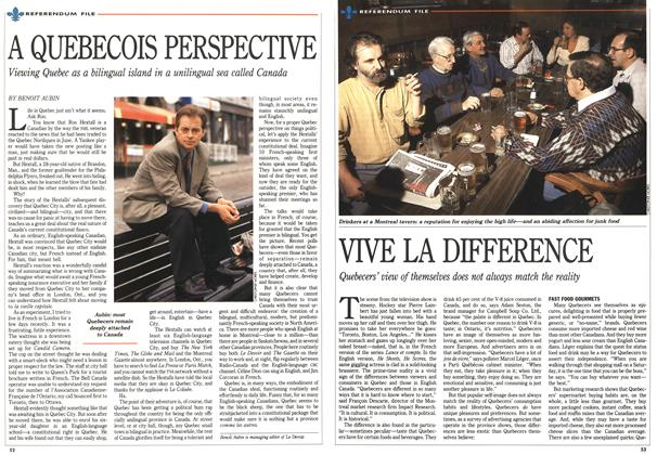 Article Preview: VIVE LA DIFFERENCE, October 1992 | Maclean's