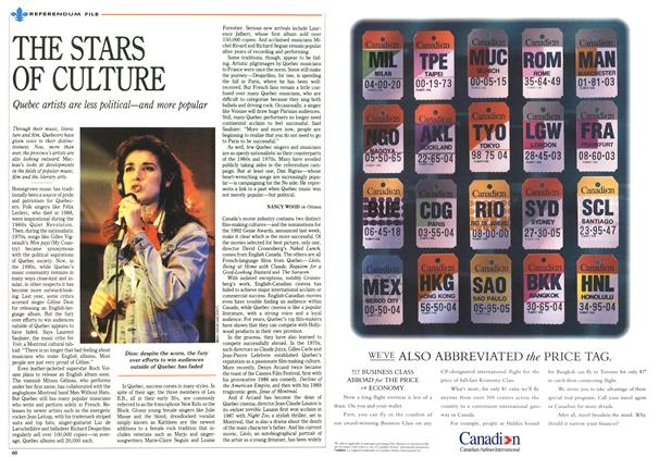 Article Preview: THE STARS OF CULTURE, October 1992 | Maclean's