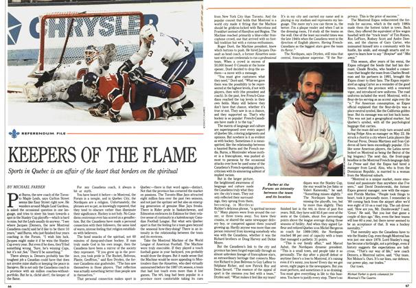 Article Preview: KEEPERS OF THE FLAME, October 1992 | Maclean's