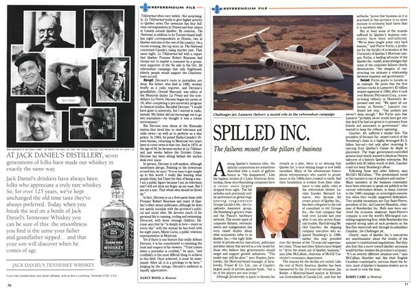 Article Preview: SPILLED INC., October 1992   Maclean's