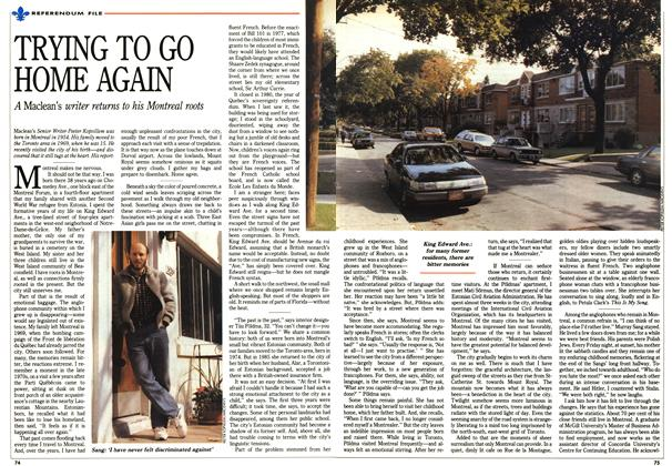 Article Preview: TRYING TO GO HOME AGAIN, October 1992 | Maclean's