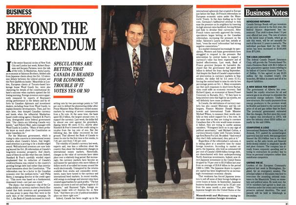 Article Preview: Business Notes, October 1992 | Maclean's