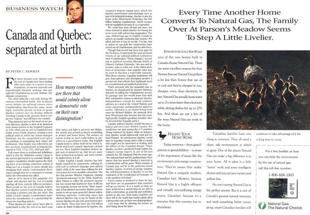Article Preview: Canada and Quebec: separated at birth, October 1992   Maclean's