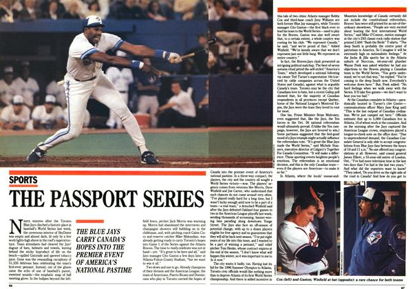 Article Preview: THE PASSPORT SERIES, October 1992 | Maclean's