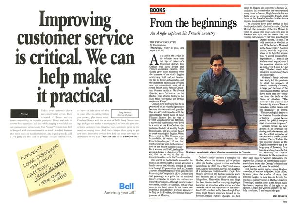 Article Preview: From the beginnings, October 1992   Maclean's