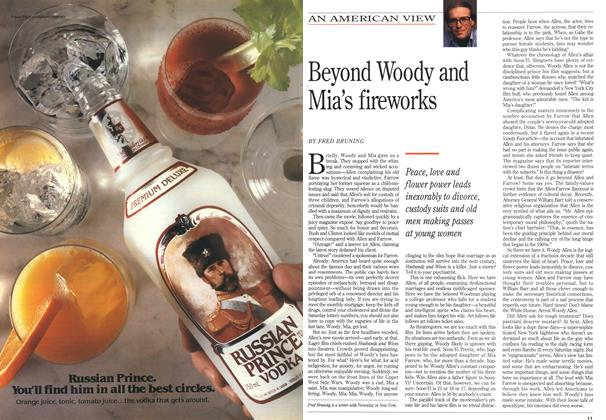 Article Preview: Beyond Woody and Mia's fireworks, October 1992 | Maclean's